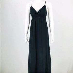 James Peres Maxi Dress Spaghetti Strap V-Neck